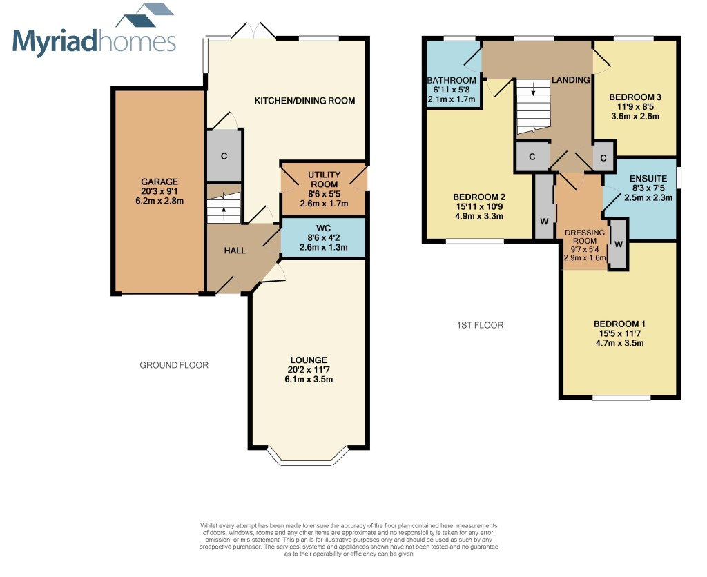 Floor Plan of 4 bedrooms New Home House for sale