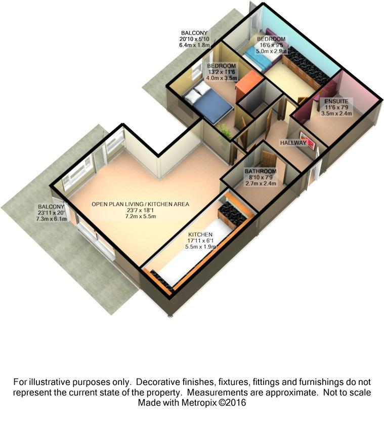 Floor Plan of 2 bedrooms Pre Owned Apartment / Flat for sale