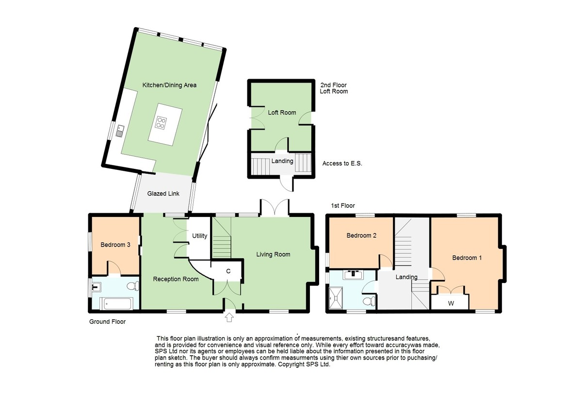 Floor Plan of 3 bedrooms Semi-Detached Bunglow for sale