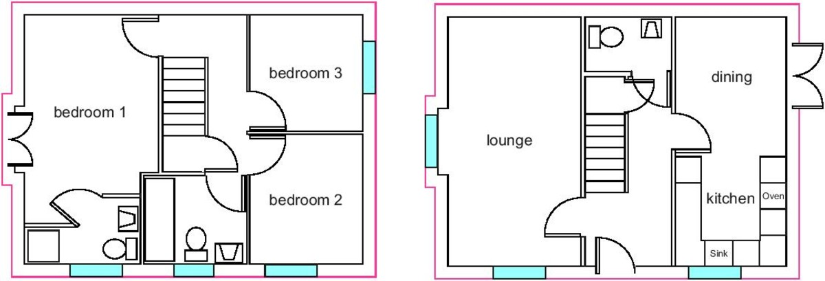 Floor Plan of 3 bedrooms Semi-Detached House for sale