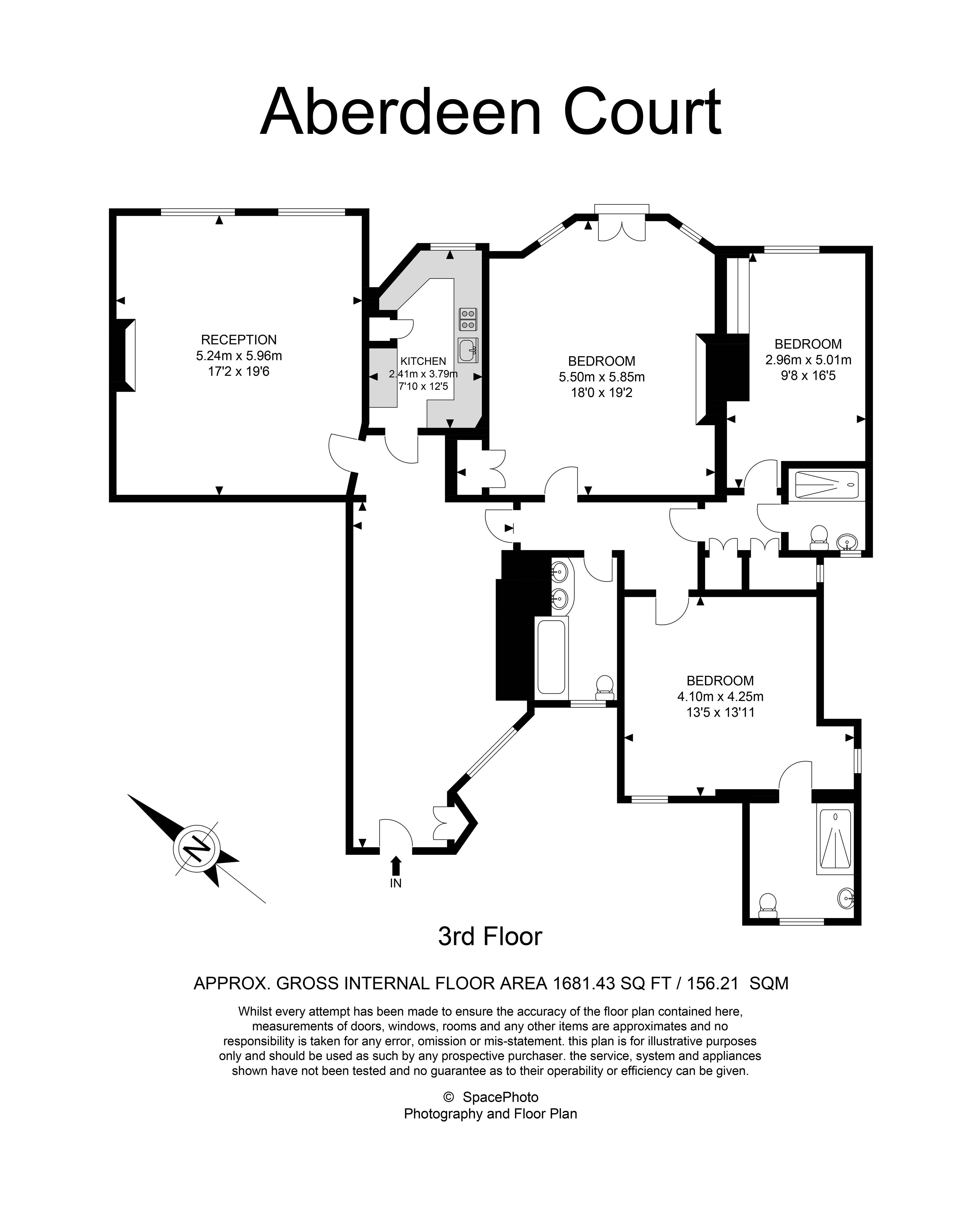 Floor Plan of 3 bedrooms Apartment / Flat for sale